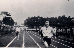 My mother winning the county 50-meter sprint championship